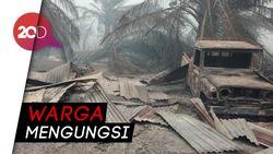Bukti Keganasan Si Jago Merah Lalap 20 Rumah di Riau