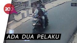 Aksi Perampok Bersenjata Tajam Terekam CCTV