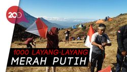 HUT RI ke-73, Festival Layang-layang Ramaikan Gunung Prau
