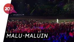 Duh... Penggawa Indonesia Nggak Tertib di Pembukaan Asian Games