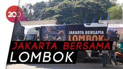 Peduli Lombok, Jakarta Kirimkan Kebutuhan Pokok dan Sapi