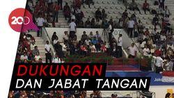 Akrabnya Jokowi dan Sandiaga Nonton Final Renang Asian Games