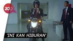 Aksi Motorannya Disindir, Jokowi: Ya, Ini Kan Hiburan