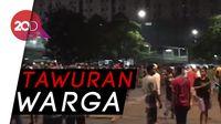 Tawuran Warga Pecah di Depan Pasar Rumput Manggarai