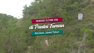 Sensasi Flying Fox di Pinggir Pantai