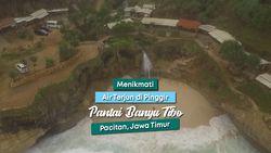 Air Terjun di Laut? Keunikan Pantai Banyu Tibo Pacitan