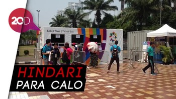 Ticket Box Asian Games di JIExpo Melompong, Tak Ada Antrean