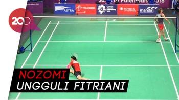 Fitriani Kalah, Jepang Ungguli Indonesia 2-1
