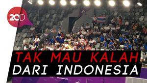 Gaya Totalitas Suporter Thailand Dukung Tim Bulutangkisnya