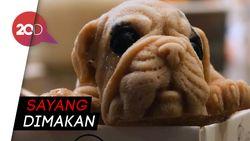 Gemas! Ada Es Krim Mirip Anak Anjing di Restoran Taiwan