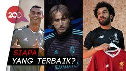 Ronaldo, Modric, dan Salah Berebut Gelar Pemain Terbaik UEFA