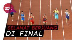 Lalu M Zohri cs Lolos ke Final Estafet 4 x 100 Meter Putra