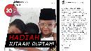 Sayembara Foto Pelukan Ala Jokowi-Prabowo