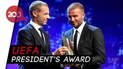 Berkat Aksi Kemanusiaannya, Beckham Diganjar Penghargaan UEFA