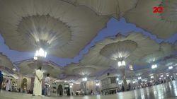 Detik-detik Mengembangnya Payung Indah Masjid Nabawi
