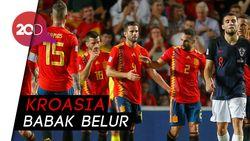 Bukti Keperkasaan Spanyol atas Finalis Piala Dunia 2018