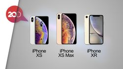 Ini Perbandingan iPhone XS, XS Max dan XR
