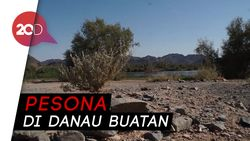Danau Buatan Jabal Magnet, Oase Keindahan di Negeri Gurun