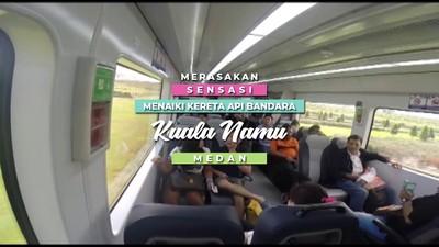 Merasakan Sensasi Menaiki Kereta Api Bandara Kuala Namu