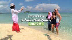Keren, Ada Pulau Pasir di Tengah Laut Belitung!