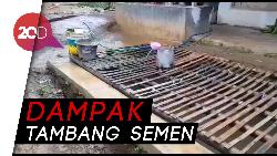 Gara-gara Tambang Semen, Warga di Sukabumi Minum Air Selokan