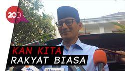 Ke KPU Duluan dari Jokowi, Sandi: Presiden Harus Disambut