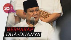 Kelakar Prabowo: Harapan Saya Kalau Nggak Nomor 1 Ya 2