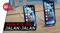 Sejoli dari Bogor Kompak Berburu iPhone Baru di Singapura
