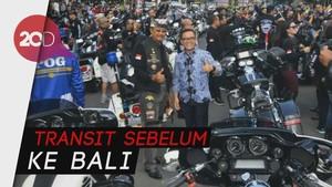 Ratusan Pengendara Harley Mengaspal dan Berjoget di Banyuwangi