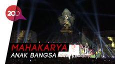 Berhias Kembang Api, Jokowi Resmikan Patung Garuda Wisnu Kencana