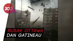 Dahsyatnya Tornado Lukai 5 Orang di Kanada
