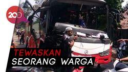 Bus Ini Meluncur Tak Terkendali Gara-gara Tali Penarik Putus