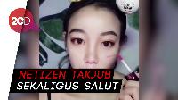 Wow! Wanita Ini Sukses Bikin Pangling dengan Makeup