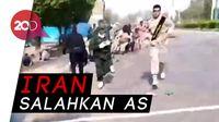 Suasana Mencekam Saat Gerombolan Tentara Iran Diserang