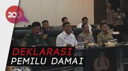 Wiranto, Kapolri, Hingga Anies Gelar Vicon Pengamanan Pemilu 2019