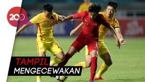 Timnas Indonesia U-19 Dipecundangi China 3-0