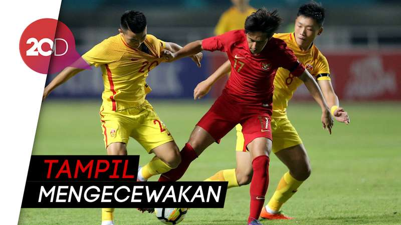 Timnas Indonesia U-19 Dipecundangi China 3-0