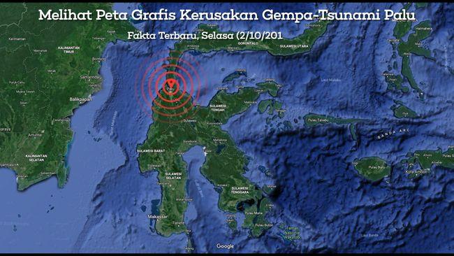 Peta Grafis Kerusakan Dampak Gempa Dan Tsunami Palu