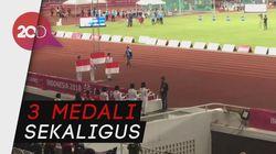 Tiga Srikandi Indonesia Raih Medali Lari 100 Meter