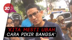 Prabowo Sebut Ekonomi Kebodohan, Sandi: Autokritik untuk Elite!