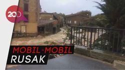 Banjir Setinggi Mobil di Prancis Tewaskan 9 Orang