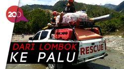 Relawan IOF Tempuh Medan Berat saat Menuju Sulteng