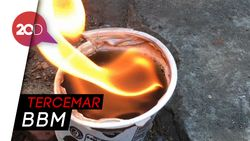 Heboh Air Sumur Warga di Mojokerto Terbakar Jika Disulut Api