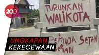 Belum Dihapus! Vandalisme Kecaman Masih Ada di Kota Palu