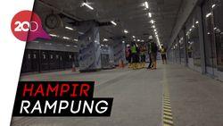 Menengok Interior Stasiun Bawah Tanah MRT Senayan