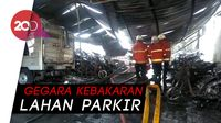 Puluhan Motor Milik Siswa SMKN 1 Surabaya Dilahap Api