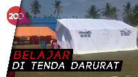 Siswa Donggala Perlahan Mulai Belajar di Sekolah Darurat