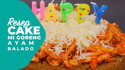 Resep Cake Mi Goreng Ayam Balado