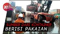 7 Kontainer Terbakar di Surabaya, Isinya Ludes Dilahap Api