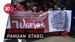 Jokowi-Ma'ruf Dapat Dukungan Pedagang Pasar Kalimalang